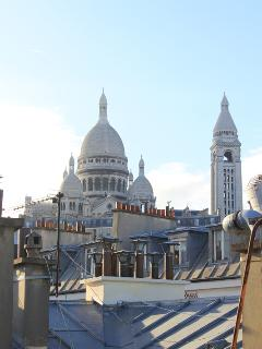 View of the sacre coeur from the roof