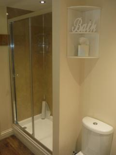 Large shower enclosure with awesome power shower