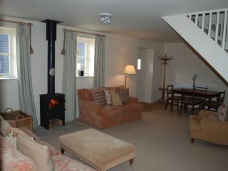 one of the sitting rooms in the cottage