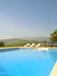 Laze in or by the heated pool