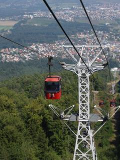 Maribor ski lifts to excellent hill walking (1hour).