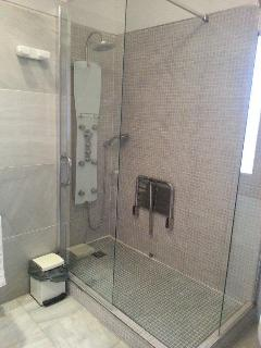 Shower Room with extra large shower enclosure, basin and w.c.