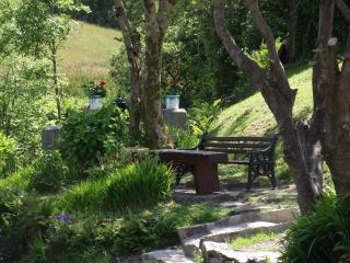 The sitting area at the village river