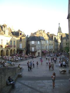 Sarlat market square - early evening