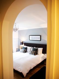 The stylish bedroom