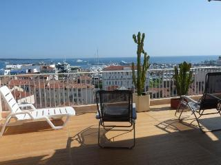 Cannes near Old Port, Luxury apartment with Magnificent Sea-View Terrace
