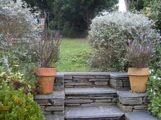 Steps leading to the garden