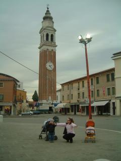The Campenile in Mirano's Town square