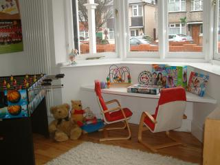 Children's playroom with sofa bed