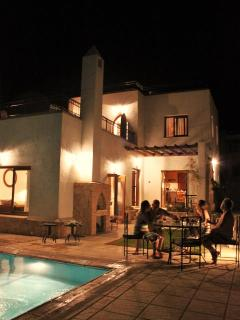 Villa Yasemin at night