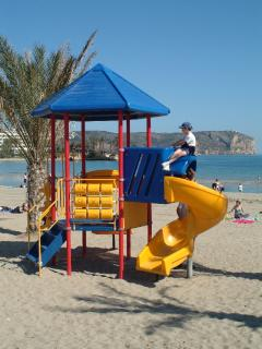Javea beach great for kids !