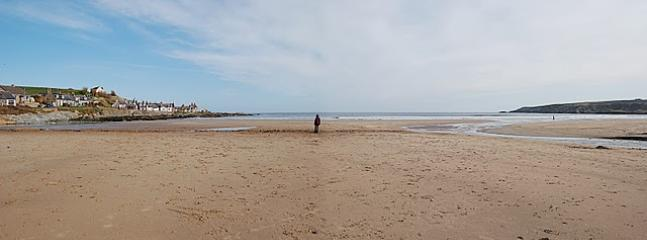 The wide expanse of sand that is Sandend Beach