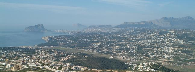 Breathtaking view over to Calpe