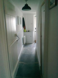hallway with lovely worn slate floor