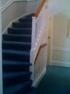 Abbey Mews is on 3 floors and has a wide easy staircase