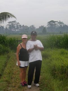 Walking in rices terraces