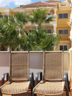Sun Loungers on Rear Balcony