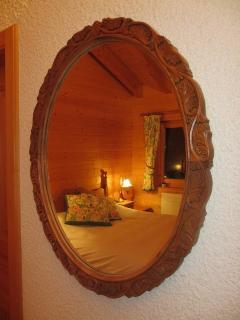 Master bedroom in the mirror