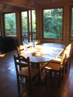 Dining Area and view to outside.