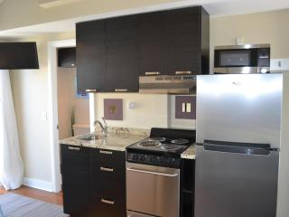 stainless steel appliances, granite counters, and great kitchen cabinets