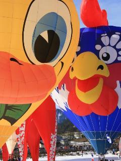 International Balloon Festival at Chateau d'Oex