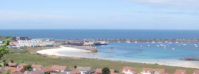 View from Pipedreamer House over Braye Bay