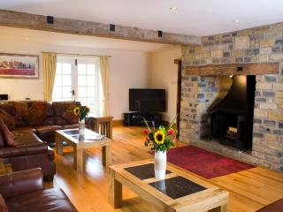 Stunning 27ft lounge with oak floors, leather sofas and plasma TV - seats 14 in comfort