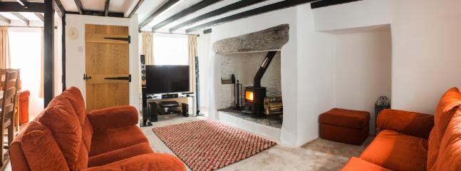 Lounge with log burning stove, 3D Smart TV, bluray, Xbox & library of new release dvds