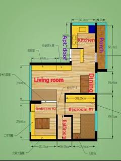 Floor plan of the apt.