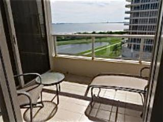 Private Terrace with Bedroom and Kitchen access overlooking Sarasota Bay, and golf course