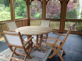 Back Porch with Table and Chairs