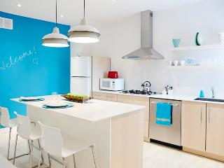 Bright fun kitchen