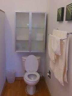 Bathroom with Storage Cabinet