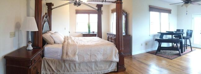 MASTER BEDROOM WITH THE NOOK SET TO DRINK TEA