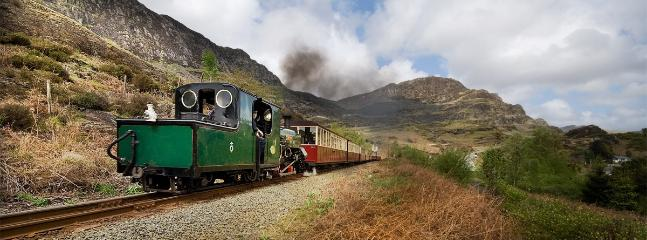Blaenau Ffestioniog steam train on its way
