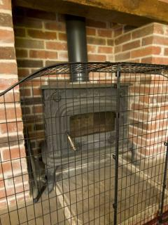 Cosy wood burning stove in sitting room