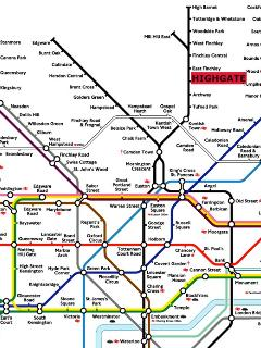 Nearest station is Highgate tube on the Northern line London Underground .