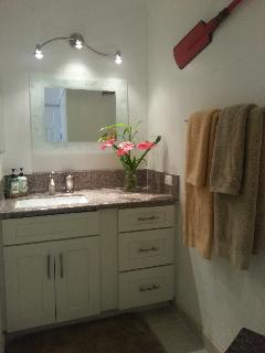 Contemporary vanity with granite