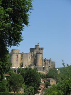 Chateau de Bonaguil, 13th century fortified castle that was never used for that purpose (26 km away)