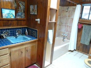 large bathroom with shower bath