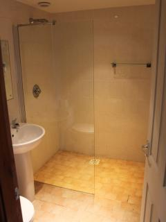 Walk in ground floor shower room