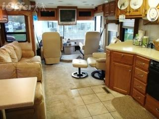 2005 Damon Intruder Luxury Class A Motor Coach in beautiful Adirondack Mountains park