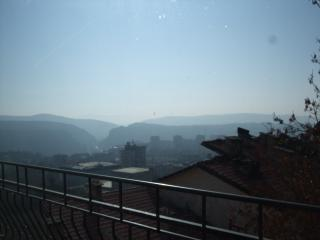 great view of Veliko Tarnovo center and new town. (Tsaravets not visible)