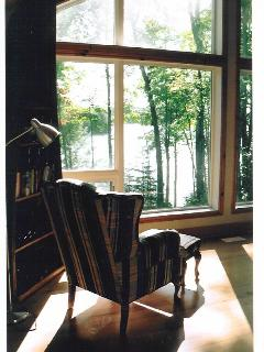 Reading chair with view