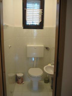 Extra toilet.