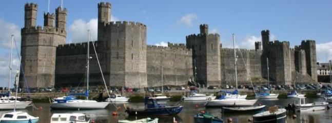 Caernarfon castle standing proud