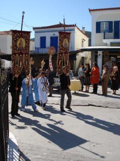 Agistri island local Cristian Orthodox day of Easter