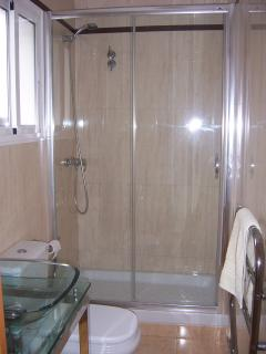 upstairs shower room and toilet.