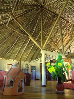 The roof is a fine piece of Caribbean architecture