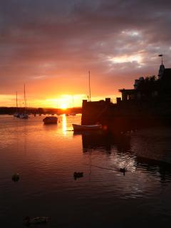 sunset on the Exe river at Topsham